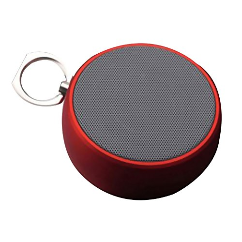 Ihome Portable Stereo (NAttnJf Bluetooth Lautsprecher, Portable Stereo Bluetooth Lautsprecher Mini Radio Super Bass mit Ring IP5 Wasserdicht Rot)