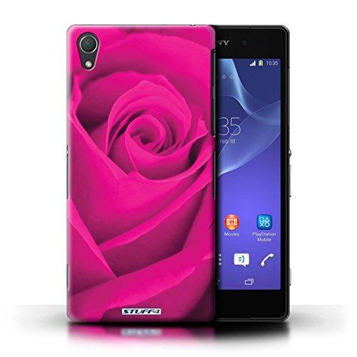 Kobalt® Imprimé Etui / Coque pour Sony Xperia Z2 / Jaune conception / Série Rose Rose