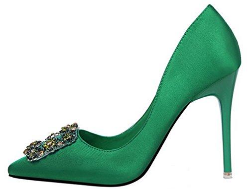 DADAWEN femmes chaussure à talon hauts sexy Turquoise