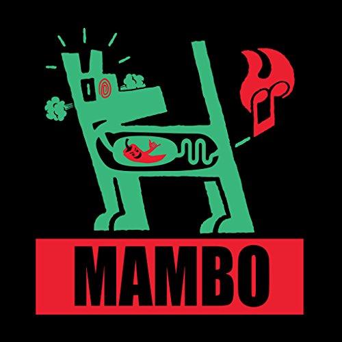 Mambo Farting Chili Green Dog Women's Hooded Sweatshirt Black