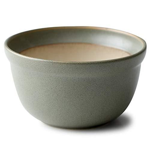 Frühstücks-Getreide-Suppenschüssel-keramische Korn-Schüssel-Ausgangseiscreme-Schüssel-Mode-westliche Art-Schüssel Obstsalat-Schüssel 4-Zoll-Nachtisch-Schüssel ( Color : 500ML , Size : GRAY ) -