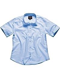 Dickies signora Camicetta Oxford a Maniche Corte, blu, SH64350 BU 24