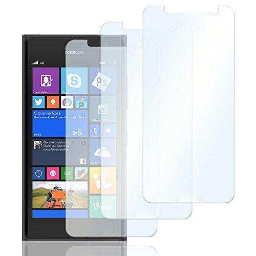 Eximmobile 3X Schutzfolien für Nokia Lumia 625 Folie | Bildschirmschutzfolie | Bildschirmfolie Schutzfolie | selbstklebend | transparent | blasenfrei | kein Glas | Flexible Folien