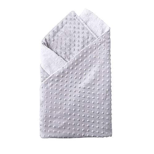OverDose Damen Neugeborene Baby Decke warme weiche hohe Qualität Fleece Stroller Cover Quilt Windeln Bettwäsche(Grau,74 cm*100 cm)