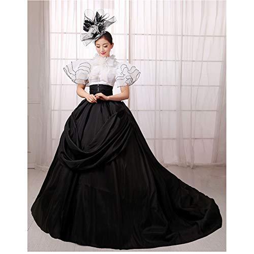 QAQBDBCKL Gerichtskleid Königin Halloween Kostüm Gotisches Renaissance Mittelalterliches Kostüm Mythisches Kostüm