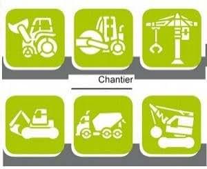6 Pochoirs Plastique Chantier