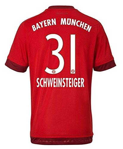 adidas FC Bayern München Trikot Home Schweinsteiger 2015/2016 Herren L - 54