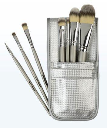 Kryolan 8314 - Juego de brochas de maquillaje (incluye 7 pinceles y bolsa)