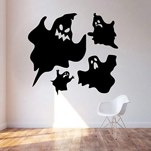 leber Für Schlafzimmer Wohnzimmer Wohnkultur Wasserdicht Zubehör Tapete Scary Ghosts Halloween Party Fenster Aufkleber Moderne 44 cm X 40 cm ()