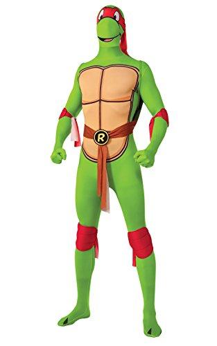 Rubie 's Offizielles Erwachsene 's Raphael 2nd Skin Kostüm Teenage Ninja Turtles–Medium