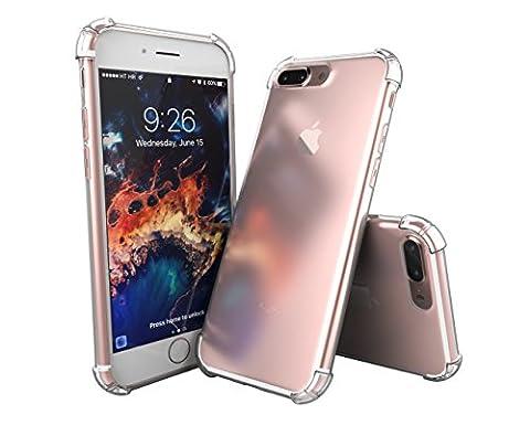 SDTEK iPhone 7 Plus [ANTI CHOCS] Coque Housse Silicone Etui Bumper Case Cover Transparente Crystal Clair Soft Gel TPU