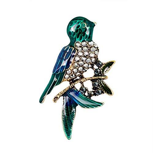 WDDqzf ornament Dekoration Statuen Kreative Unisex Strass Intarsien Vogel Brosche Kleidung Dekor Schöne Und Schöne Schmuck Geschenk, Vogel * -