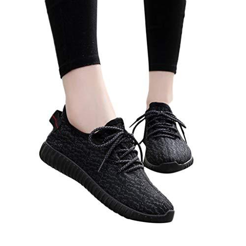 TianWlio Sportschuhe Herren Sneaker Outdoorschuhe Mode Paar Outdoor Mesh Lässige Sportschuhe Runing Atmungsaktive Schuhe Turnschuhe Schwarz weiß grau 35-44