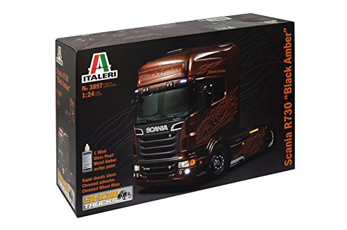 Italeri 3897 - scania r730 v8 black amber modellismo camion model kit scala 1:24