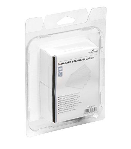 DURABLE Duracard Plastikkarten Standard 100 Stück weiß