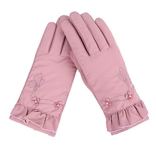 FeiBeauty Winddichte warme Handschuhe der Damenblumenstickerei im Freien trägt HandschuhhandyTouch Screen zur Schau