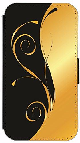 Kuna Flip Cover für Apple iPhone 5 / 5s Design K134 Zebra Hülle aus Kunst-Leder Handy Tasche Etui mit Kreditkartenfächern Schutzhülle Case Wallet Buchflip Rückseite Schwarz Vorderseite Bedruckt mit Bi K151