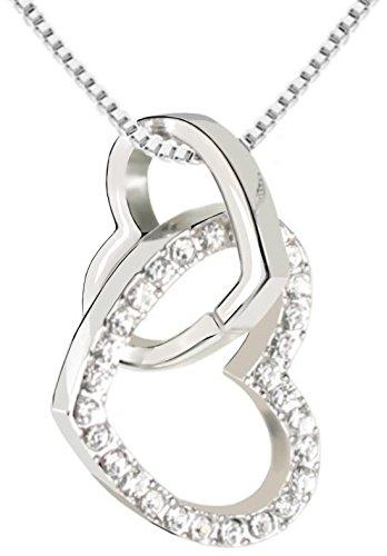 QUADIVA-C-Damen-Halskette-Herzkette-Kette-mit-Anhnger-Herz-Farbe-weigold-verziert-mit-funkelnden-Kristallen-von-Swarovski