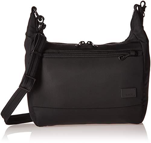 Pacsafe Citysafe CS100 Anti-Diebstahl Nylon Umhängetasche für Damen, Schultertasche mit Diebstahlschutz, Sicherheits-Features...