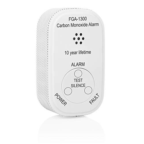Smartwares Mini-Kohlenmonoxid-Melder inkl. 10-Jahres Batterie, CO-Gasmelder, EN 50291 Zertifiziert, mit Prüftaste und Warnanzeige