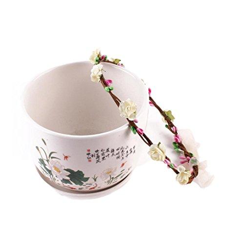 kingko® Kinder Strick Kränze 15cm 5.9 Geeignet für 2~9 Jahre alte Kinder machen Ihr Baby voller Vitalität Silber