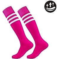 Football Sports Socks Unisex Knee High Triple&Classic Plain Athletic 2-12 Pairs