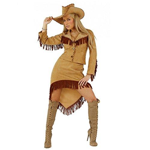 Cowgirl Kostüm Western Lady Jacke Rock Hut Fasching Karneval Amerika USA (S) (Womens Cowgirl Kostüme)