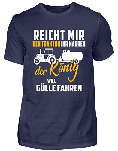Landwirt Shirt · Trecker · Traktor · Geschenk für Bauern · Spruch: Traktor Ihr Narren - Herren Shirt -M-Dunkel-Blau - Dunkel Blau Grafik T-shirt