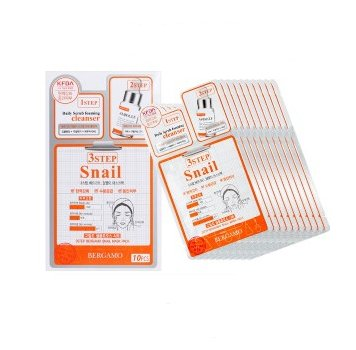 Bergamo 3Step Bergamo Mask Pack - Snail 10pcs