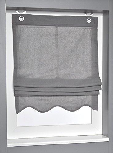 Tenda a pacchetto olivia grigio con occhielli 45 * 140 cm