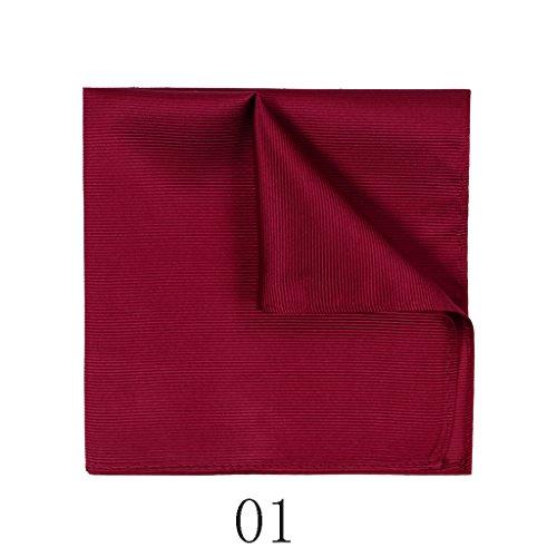 ZJM Mouchoir (32 * 32 Cm) Foulard en soie de soie en soie pour hommes carrée Hanky ( Couleur : #05 ) #01
