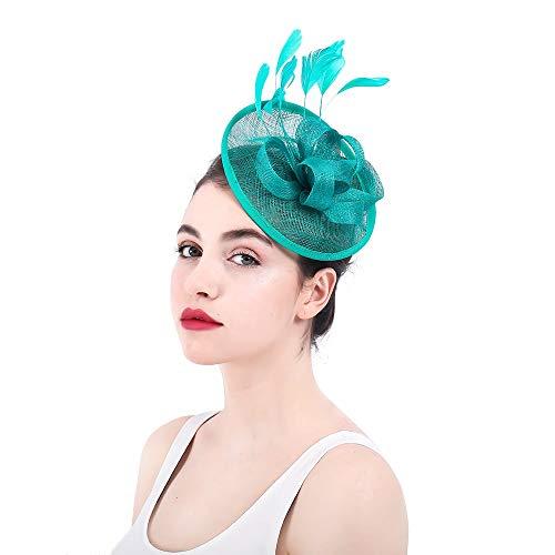 Womens Vintage Hut Fascinator Cocktail Tea Party Hut Hochzeit Kopfbedeckung Blume Haarspange Damen Day Race Royal Ascot Hochzeitshüte für Frauen