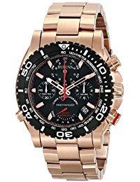 Bulova 98B213 Reloj analógico de Cuarzo japonés para Hombre, Oro Rosa