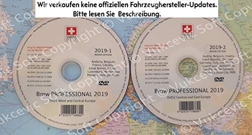 2019 B M W Professional CCC Update DVD1 + DVD2 Blitzer Edition (Navigations-update Cd)
