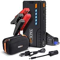 TACKLIFE T6 Arrancador de Coche - 600A Pico 16500mAh Jump Starter, Batería Arrancador de Coche (Hasta 6.2L en Gas o 5.0L en Diesel), con Puertos de Carga Dual USB, Linterna LED
