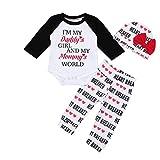 Bestow Conjunto de Pantalones de Amor Ropa de niñas Trajes de San Valentín Infant Letters Love Love Day(Blanco,6-9M)