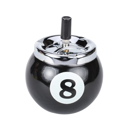 Generic Pool Ball Billiard Ball Push Button Metal Cigarette Ashtray