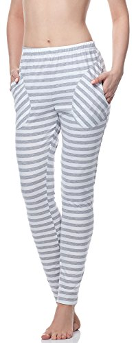 Merry Style Damen Schlafanzugshose MS10-133 Melange Streifen