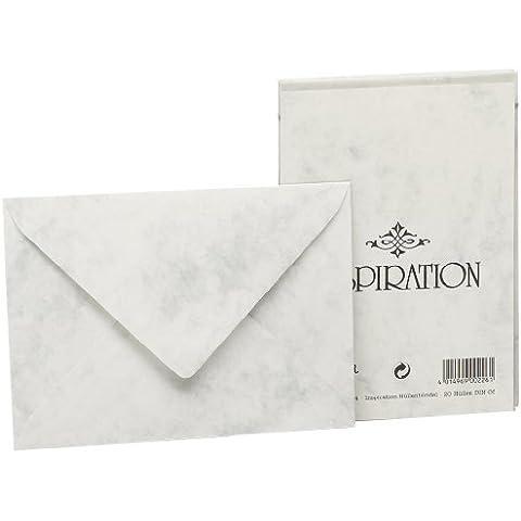 Rössler 20300814 - Confezione da 20 buste per corrispondenza, formato carta C6, colore: Grigio marmorizzato