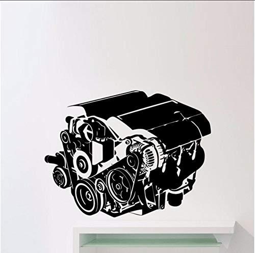 Lsfhb Auto Motor Wandaufkleber Steuern Dekor Wohnzimmer Auto Werkstatt Auto Repair Service Garage Vinyl Wandtattoos 44X57 ()
