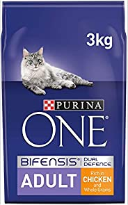 Purina One Adult Cat Chicken and Whole Grains, 3 kg