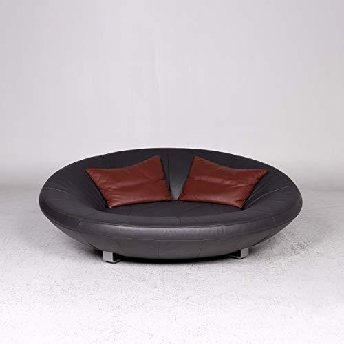 de Sede DS 152 Designer Leder Sofa Grau Zweisitzer Couch #9745 - Leder-sofas Und Zweisitzer