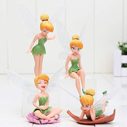 XuBa 4 Unids/Set Tinkerbell Fairy PVC Figuras de Acción Tinker Bell Hadas Muñecas Modelo Juguetes Show