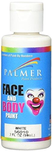 Palmer Gesicht und Körper Malen 60Weiß (Malen Palmer Gesicht)