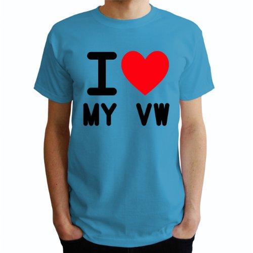 I love my vw Herren T-Shirt Blau