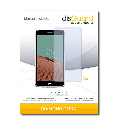 3 x disGuard® Schutzfolie LG Bello II Bildschirmschutz Folie