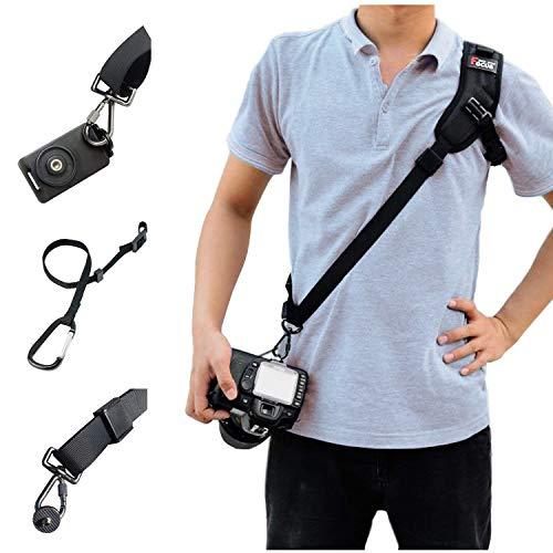 Kameragurt, Schnellverschluss Kamera Tragegurt Kamera Schnelle Gurt mit Sicherheits Tether für Canon Nikon Sony Panasonic Kameras DSLR SLR