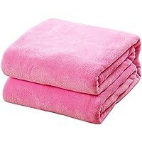 Topdo Alfombra Manta para Mascotas con Alfombra para Perros Perrera Gato Blanket otoño e Invierno Manta cálida Color sólido Felpa Artificial 1 Pieza Size M-50 * 70CM (Rosa)