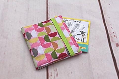 Pixibuch Hülle RETRO rosa ** Hülle für Minibücher,