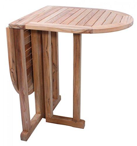 Charme Vertriebs GmbH Balkontisch Gartentisch klappbarer Tisch Holztisch Klapptisch oval Teakholz